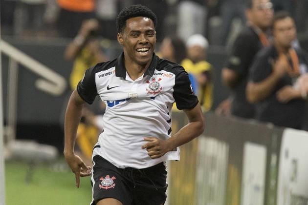 A nona posição está com o meia Elias. O jogador, que atuou no Timão entre 2008 e 2010 e entre 2014 e 2016, fez 41 gols pelo Alvinegro.