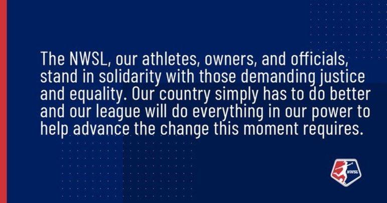 A NWSL (Liga americana de futebol feminino) afirmou: