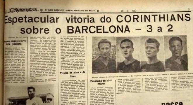 A Pequena Copa do Mundo, disputada em Caracas, na Venezuela, foi a precursora da Copa Intercontinental e era considerada uma espécie de Mundial. Em 1953, na segunda edição da competição, o Timão foi campeão com 100% de aproveitamento, vencendo duas vezes Barcelona, Roma (vice-campeã) e Caracas.