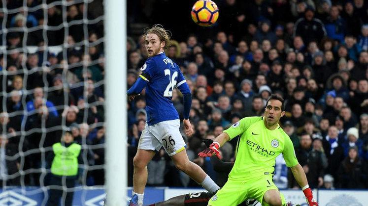 A Premier League registrou uma goleada de Pep Guardiola para o Everton em 2017.