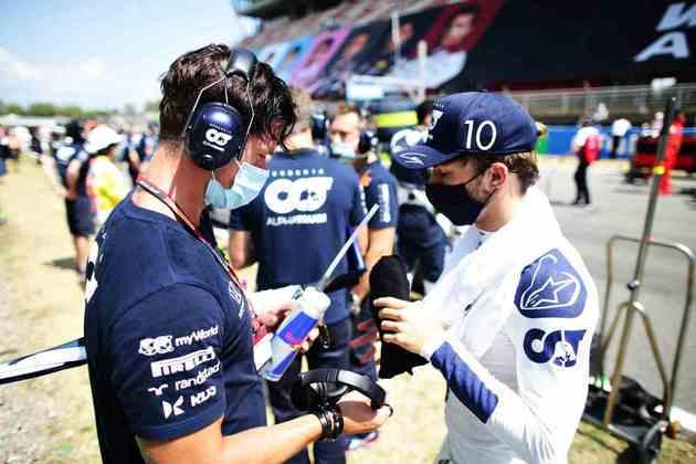 A preparação de Pierre antes do GP da Espanha