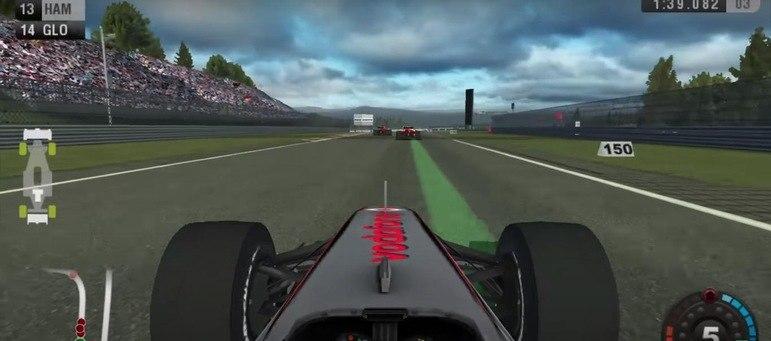 A primeira aparição de Hamilton foi no jogo F-1 2009, da Codemasters, lançado para Nintendo Wii e PSP.