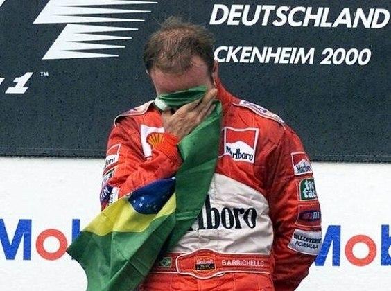 A primeira vitória de Barrichello na Ferrari, e também na Fórmula 1, aconteceu no movimentado GP da Alemanha de 2000