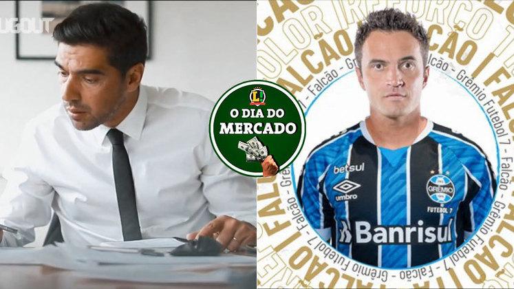 A quarta-feira foi agitada no mercado da bola. O Palmeiras avançou na negociação para contratar o técnico português Abel Ferreira, enquanto o Grêmio anunciou a contratação de Falcão, o Rei do Futsal. Veja essas e outras movimentações do vaivém. (Por Gabriel Santos)
