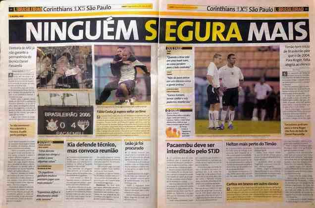 A queda de Daniel Passarella era iminente. O Corinthians, que seria campeão brasileiro com Antônio Lopes naquela temporada, tinha péssimo início de Brasileiro.