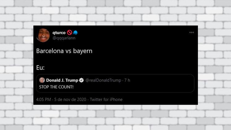 A recente goleada do Bayern de Munique por 8 a 2 sobre o Barcelona pela Champions League foi lembrada por alguns internautas