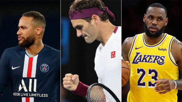 A revista Forbes, uma das mais respeitadas publicações de economia e negócios, divulgou a lista dos atletas mais bem pagos do mundo nos últimos doze meses. A reportagem mostra o top-10 do ranking, que conta com jogadores de tênis, futebol, basquete, entre outros esportes. Veja a lista!