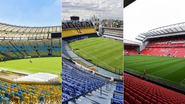 """A revista francesa """"France Football"""" elaborou um ranking dos estádios mais vibrantes do mundo. O Maracanã é o único estádio brasileiro da lista, que conta com La Bombonera, Anfield Road, Signal Iduna Park, entre outros. Veja a lista!"""