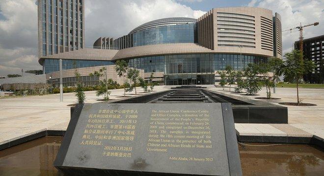 A sede da União Africana foi um presente do governo chinês. Fica na capital da Etiópia