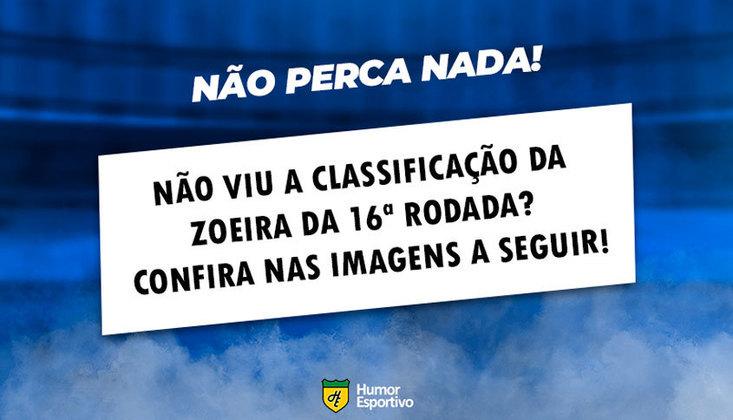 A seguir, uma lembrança de como foram as brincadeiras após a 16ª rodada do Brasileirão