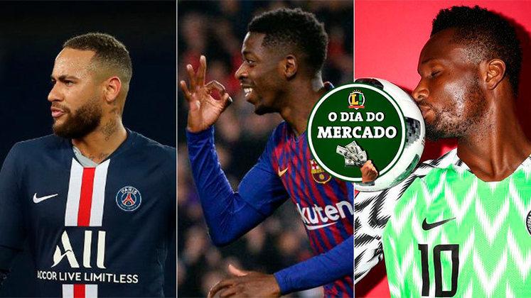 A semana começou com a definição de algumas posturas no mercado. O PSG quer Dembélé e pode envolvê-lo para liberar Neymar, e o Botafogo adota nova postura no mercado.