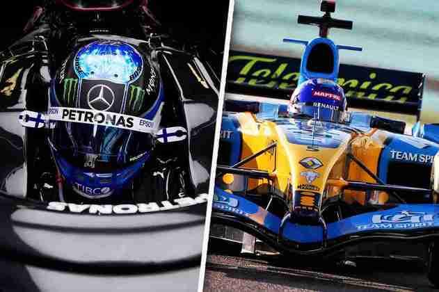 A sexta-feira em Abu Dhabi foi de domínio da Mercedes e nostalgia com Alonso. Confira as melhores fotos (Por: GRANDE PRÊMIO)
