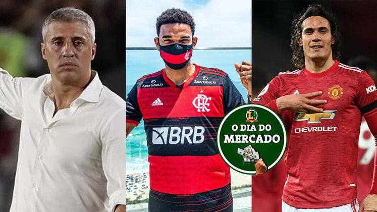 A sexta-feira foi agitada no mercado da bola. O São Paulo anunciou a chegada do novo técnico para os próximos dois anos, o Flamengo divulgou seu primeiro reforço para a próxima temporada, Cavani pode deixar o Manchester United. Saiba sobre estas e outras notícias do mercado aqui, na galeria do resumo do Vaivém!