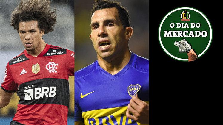 A sexta-feira foi agitado no mercado da bola. Atleta do Flamengo é