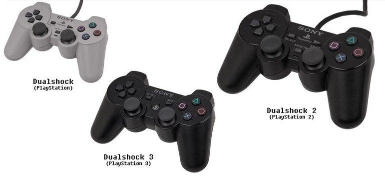 A Sony também causou a 'dinastia DualShock' com três gerações do PlayStation: 2, 3 e 4. O controle passou a ter dois analógicos, além de um direcional digital.