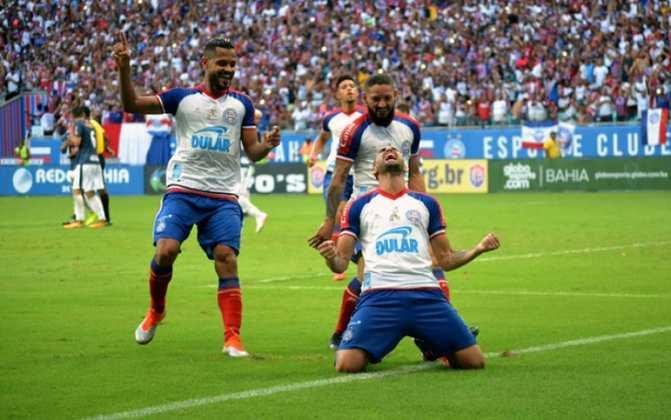 A última vez que o Bahia liderou o Campeonato Brasileiro foi em 2017, na 1ª rodada da comeptição. O Tricolor de Aço terminou o campeonato daquele ano em 12º lugar.