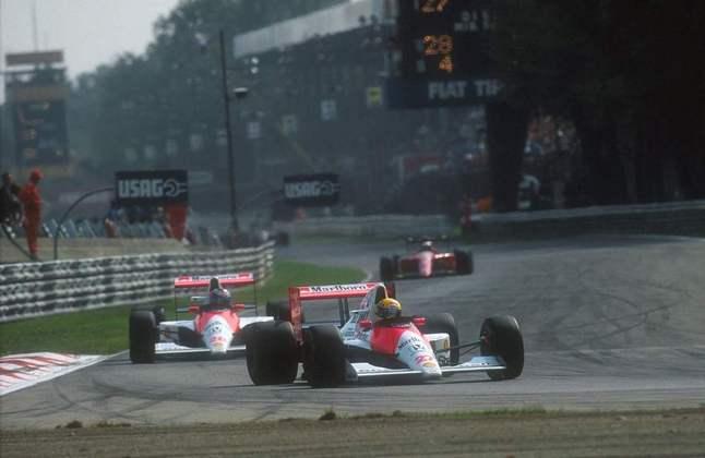 A última vitória de Ayrton Senna em 1990 foi o GP da Itália, em Monza, com o McLaren-Honda. Mesmo sem outras conquistas, o brasileiro conquistou o bi mundial