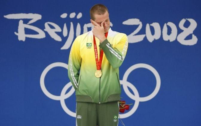 A única medalha de ouro olímpica da história da natação brasileira foi obtida por César Cielo. O nadador paulista foi o primeiro colocado dos 50m livre nos Jogos de Pequim, em 2008.