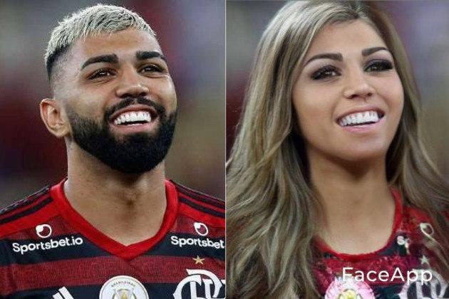 A versão feminina do atacante Gabriel Barbosa