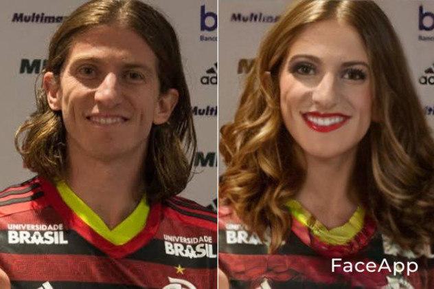 A versão feminina do lateral Filipe Luís