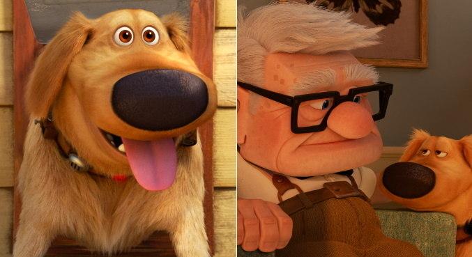 Dug e Carl agora moram juntos na animação 'A Vida de Dug', da Disney e Pixar