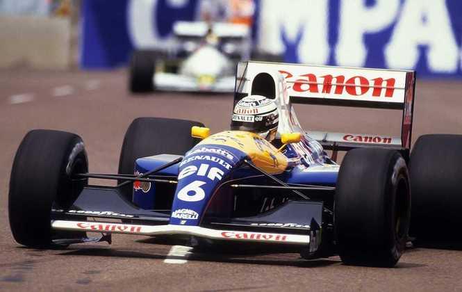 A Williams correu em 1991 com o FW14. Apesar de não sair com títulos, deu muito trabalho para a favorita McLaren