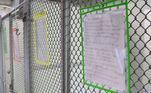 A carta foi colocada na porta do canil para que possíveis adotantes conhecessem a história