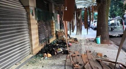 Fogo destruiu os pertences e restaurante