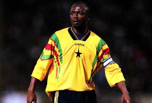 Abedi-Pele - O lendário ganês dos anos 90 é pai dos jogadores é pai de André Ayew e Jordan Ayew. André joga no Swansea City. e Jordan no  Crystal Palace