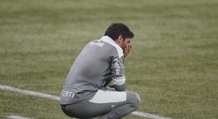 Abel Ferreira sofreu bastante na beira do gramado