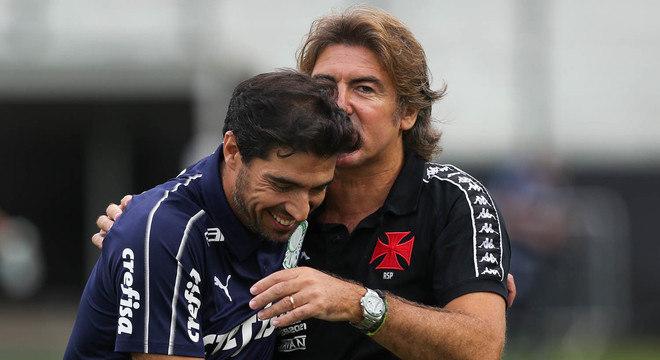 Abel venceu o duelo com Sá Pinto. Mas Palmeiras decepcionou contra o fraco Vasco