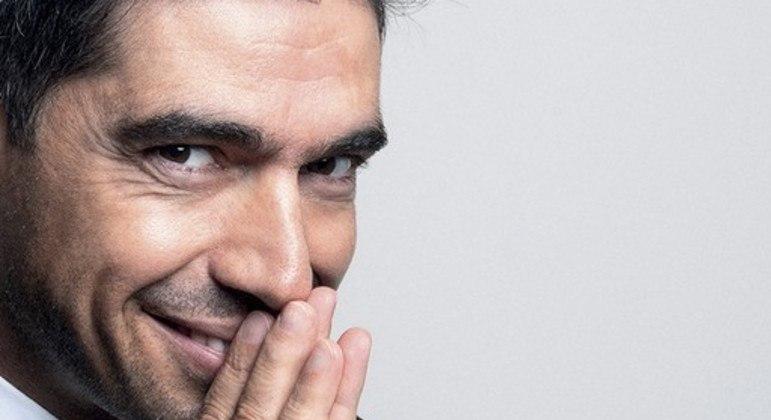 Abel Ferreira transparece nas fotos total confiança. Sua exposição será cobrada