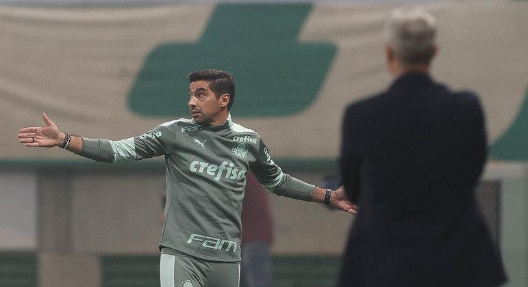 Abel Ferreira e Hernán Crespo. O medo dos dois, de perder o primeiro jogo, prevaleceu