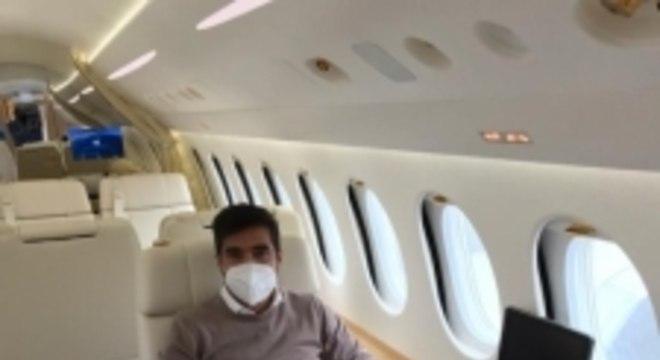 Abel Ferreira avião