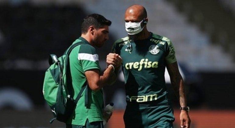 Abel e Felipe Melo são muito próximos. Técnico considera fundamental a liderança do jogador