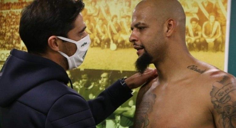 Abel tem em Felipe Melo o 'seu líder'. Postura de Galiotte atrapalha ambiente dos jogadores