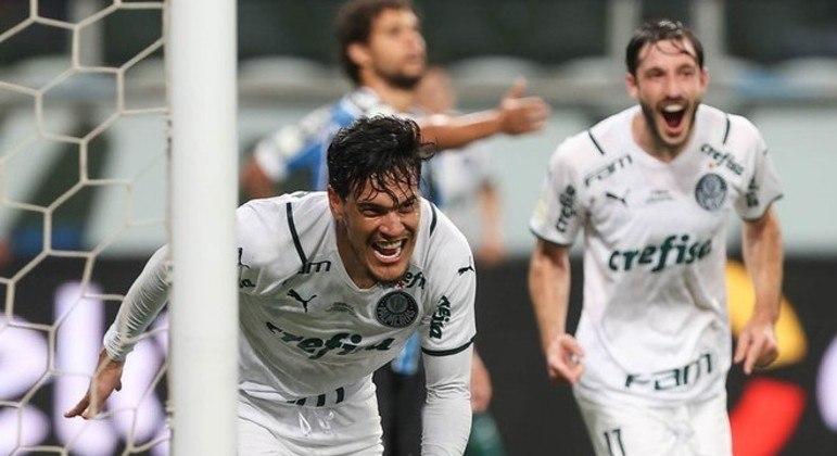 Gustavo Gómez fez o gol da vitória do Palmeiras no jogo de ida