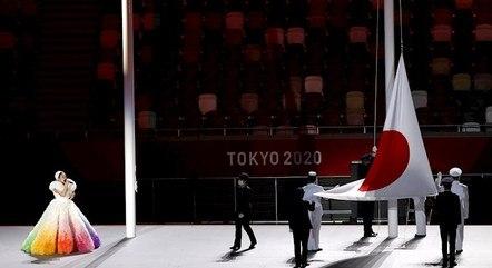 Bandeira do Japão foi hasteada