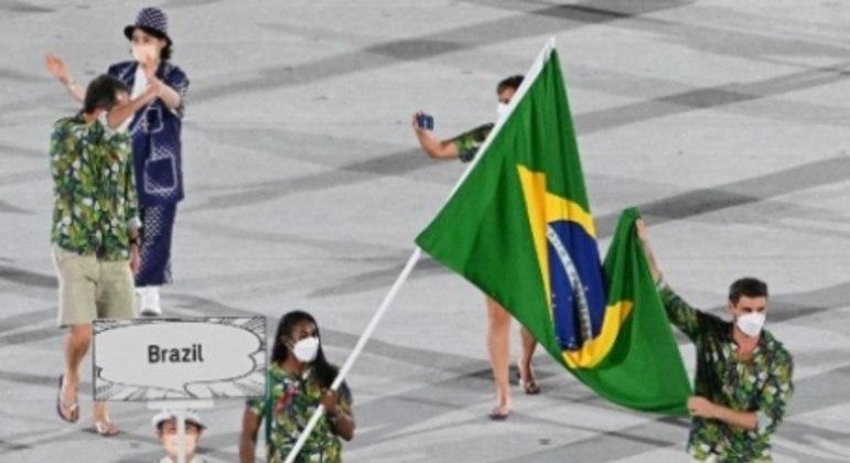Abertura Tóquio 2020 - Brasil
