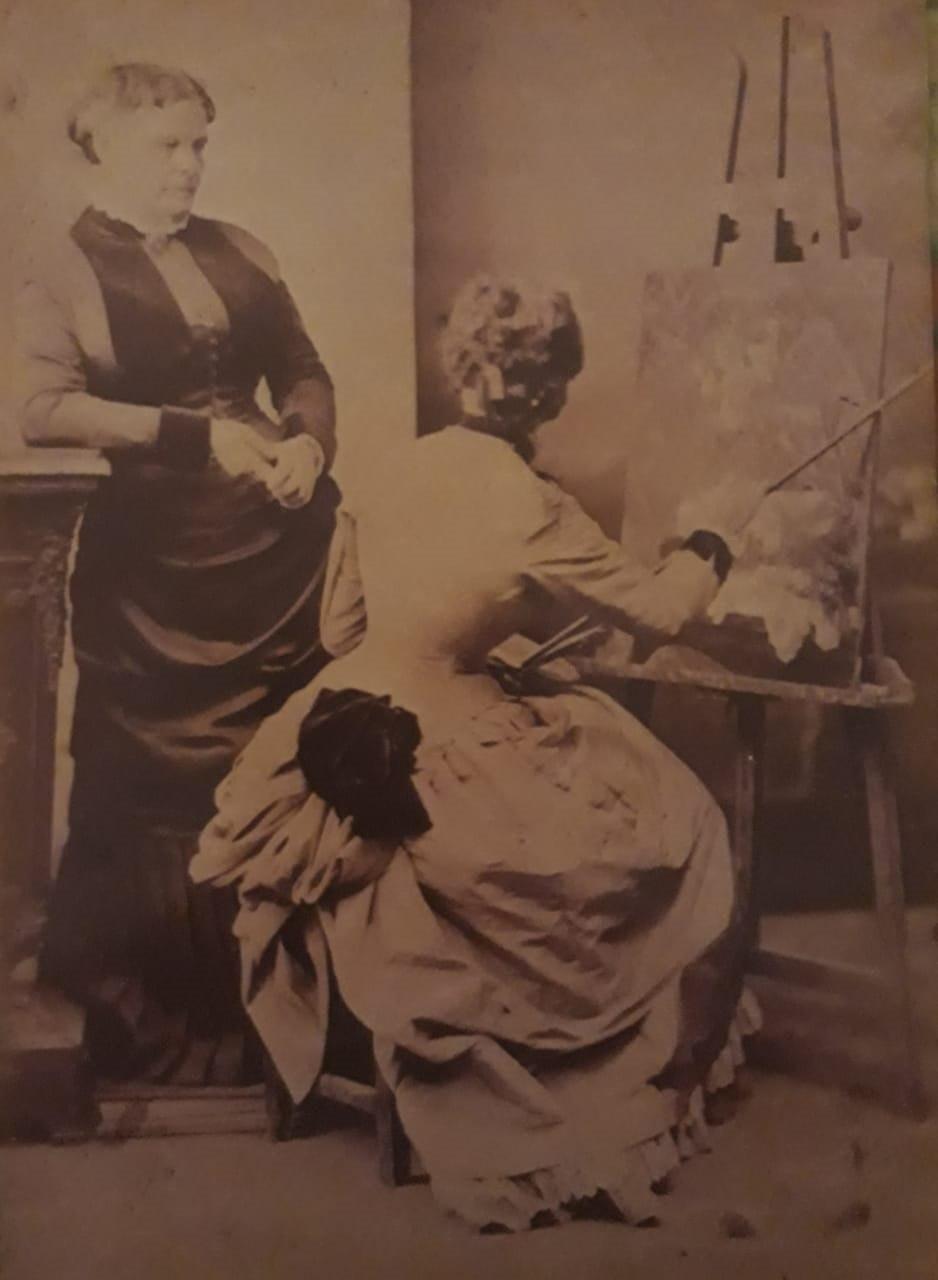 Abigail em foto que inspirou 'Um Canto do Meu Ateliê': morte precoce encurtou carreira promissora da pintora