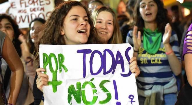 Manifestação pela descriminalização do aborto em SP