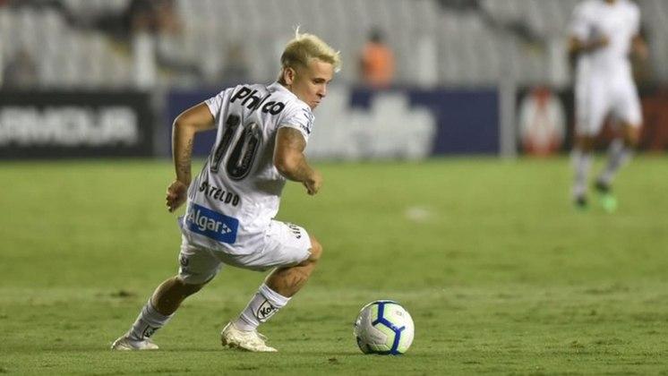 """Abrindo a lista, o mais baixinho: Yeferson Soteldo, do Santos, foi eleito o melhor da """"categoria"""", com 1,60m."""