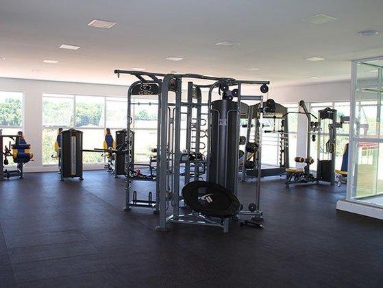 Academia do complexo esportivo, que conta com aparelhos de última geração para os atletas.