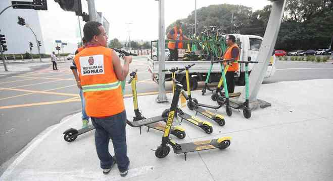 Ação da prefeitura apreendeu 557 patinetes