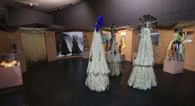 Exposição Índios: Os Primeiros Brasileiros, no Memorial dos Povos Indígenas