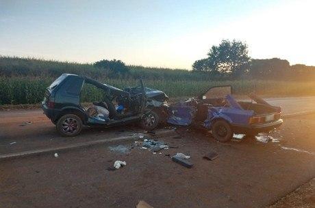 Acidente na rodovia Jorge Bassil Dower (SP-421), em Nantes