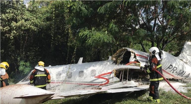 Acidente aconteceu no Aeroporto da Pampulha