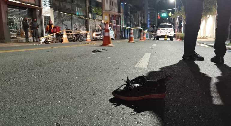 Motociclista fica ferido após acidente de trânsito no centro de São Paulo