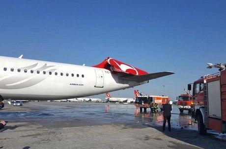 Estabilizador vertical do avião sofreu sérios danos