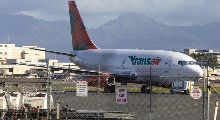 Dois tripulantes a bordo da aeronave foram levados ao hospital
